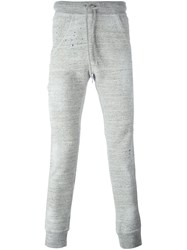 Dsquared2 Splatter Effect Track Pants Grey