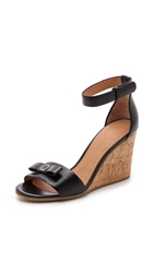 Marc By Marc Jacobs Logo Disc Wedge Sandals Black