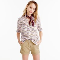 J.Crew Petite Gathered Popover In Indian Cotton
