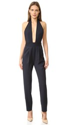 Milly Halter Jumpsuit Navy