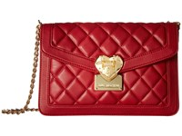 Love Moschino Quilted Envelope Crossbody Red Cross Body Handbags