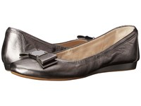 Cole Haan Tali Bow Ballet Dark Silver Women's Slip On Shoes