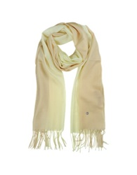 Mila Schon Gradient Beige Cream Wool And Cashmere Stole