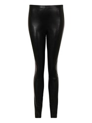 Hotsquash Leather Look Skinny Fit Trousers Black