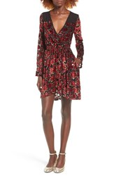 Band Of Gypsies Women's Floral Velvet Dress