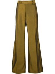 Strateas Carlucci Flared Tailored Trousers Brown