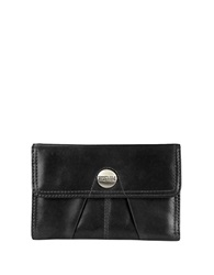 Kenneth Cole Reaction Button Up Leather Indexer Wallet Black