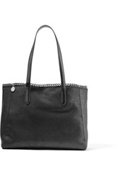 Stella Mccartney The Falabella Faux Brushed Leather Tote Black