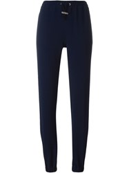 Christopher Kane Gathered Ankle Trousers Blue