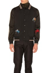 Lanvin Spider Embroidery Baseball Jacket In Black