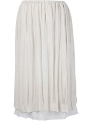 Raquel Allegra Layered Skirt White