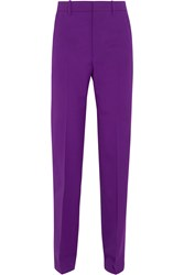 Gucci Stretch Wool And Silk Blend Straight Leg Pants