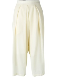 Isabel Benenato Pleated Culottes White