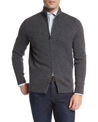 Ermenegildo Zegna Reversible Full Zip Jacket Charcoal Grey