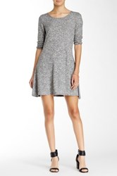 Peach Love Cream California Knit Skater Dress Gray