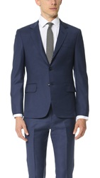 Brooklyn Tailors Super 120 Wool Suit Jacket Bright Navy