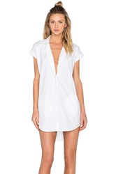 Obey Fiona Shirt Dress White