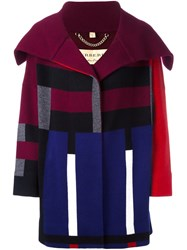 Burberry Oversized Lapel Cardigan Multicolour