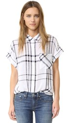 Rails Whitney Button Down Shirt Vanilla Navy Plaid
