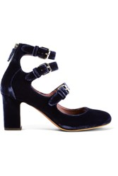 Tabitha Simmons Ginger Velvet Pumps Navy