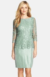 Women's Adrianna Papell Floral Embroidered Peplum Sheath