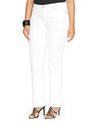 Lauren Ralph Lauren Plus Super Stretch Modern Curvy White Wash Jeans