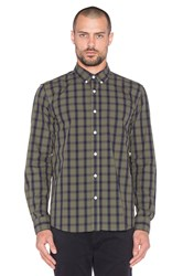 Saturdays Surf Nyc Crosby Rip Check Button Up Olive