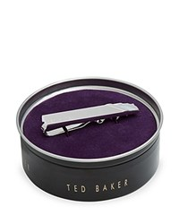 Ted Baker Stone And Brushed Tie Bar Silver