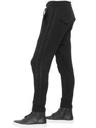 Helmut Lang Side Lace Up Detail Cotton Jogger Pants