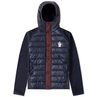 Moncler Grenoble Down Front Hooded Jacket Blue