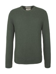 Racing Green Report Textured Crew Neck Knit Dark Green