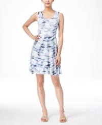 Styleandco. Style And Co. Sleeveless Printed Dress Only At Macy's Tie Dye Blue