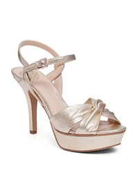 Vince Camuto Philicia Leather Platform Sandals Gold