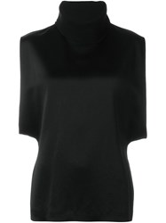 Marni Ribbed Roll Neck Top Black