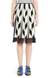 Emilio Pucci Women's Sequin Embellished Chevron Carwash Skirt