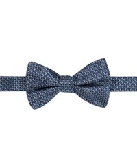 Ryan Seacrest Distinction Men's Beverly Neat Pre Tied Bow Tie Only At Macy's Navy