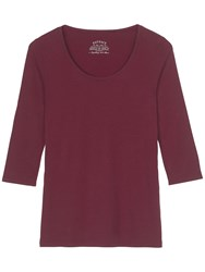 Fat Face Laura Three Quarter T Shirt Elderberry