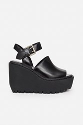 Opening Ceremony Shiny Calf Luna Sandals Black