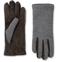 Loro Piana Gregory Cahmere And Uede Glove Chocolate