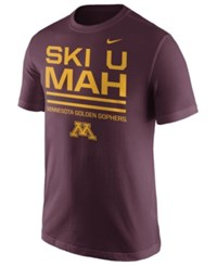 Nike Men's Minnesota Golden Gophers Cotton Local Verbiage T Shirt Maroon