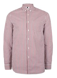 Topman Red And White Striped Shirt
