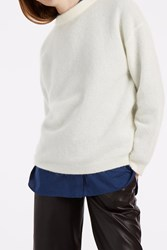 Acne Studios Women S Dramatic Mohair Jumper Boutique1 White