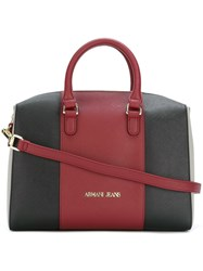 Armani Jeans Colour Block Tote Bag Red