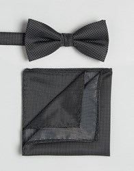Selected Homme Tie And Pocket Square Black