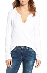 Zadig And Voltaire Women's Tunisien Graphic Cotton Top Blanc