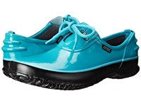 Bogs Urban Farmer Shoe Teal Women's Lace Up Casual Shoes Blue