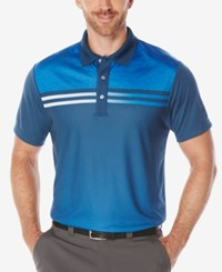 Pga Tour Men's Heathered Performance Golf Polo Shirt Poseidon