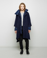Tsumori Chisato Wool Boucle Wrap Coat Dark Blue
