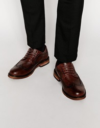 New Look Embossed Brogue Shoes Tan