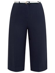 Ted Baker Colour By Numbers Aruana Cropped Wide Leg Trousers Navy